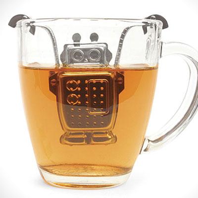 ロボット型のユーモラスな茶こし