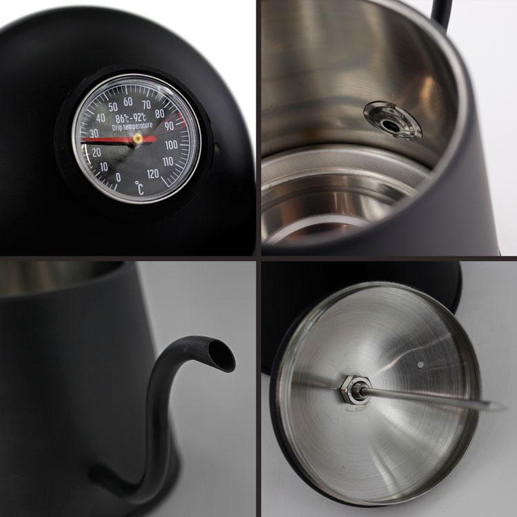 パール金属 美味カフェ ステンレス温度計付ドリップポット 1.1L HB-4728