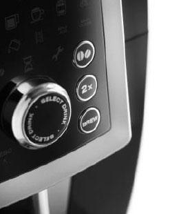 コーヒーの量や濃さも調整可能。コントロールパネルで簡単操作