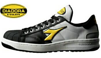 7a6cccd4c7 KW-251 (BLK &YEL) (Deirdre) DIADORA safety shoes KIWI (Kiwi) series fs3gm
