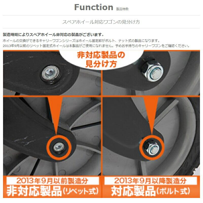スペアーホイール(2個セット)フォールディングキャリーワゴン用W1-187[W1187]※2013年9月以前製造のリベット固定式には対応しておりません。予めご確認下さい。ドッペルギャンガーアウトドアDOPPELGANGEROUTDOORDOD