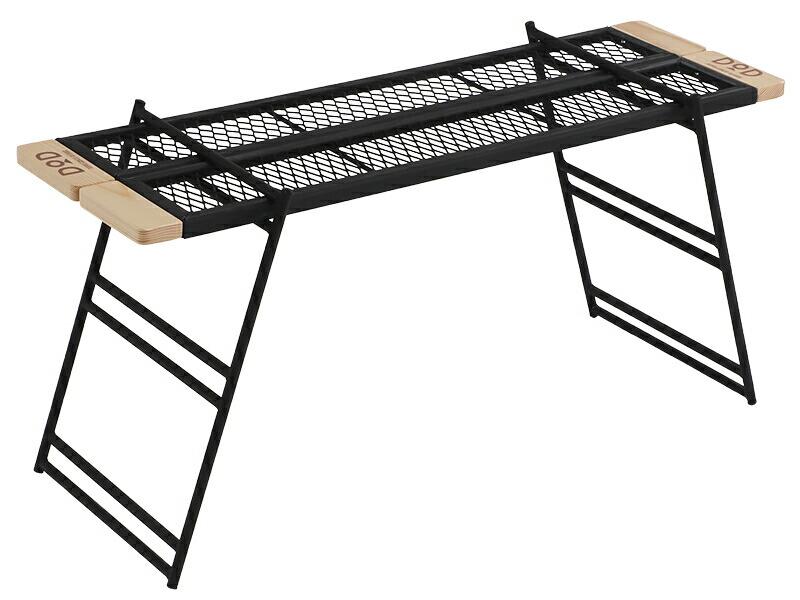 テキーララック焚き火の上でも使用できるタフな鉄製テーブルです。TB2-541[TB2541]ドッペルギャンガーアウトドアDOPPELGANGEROUTDOORDOD
