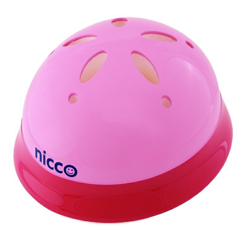 KH002PK ピンク 子供用自転車ヘルメット nicco(ニコ)シリーズ クミカ工業 日本製