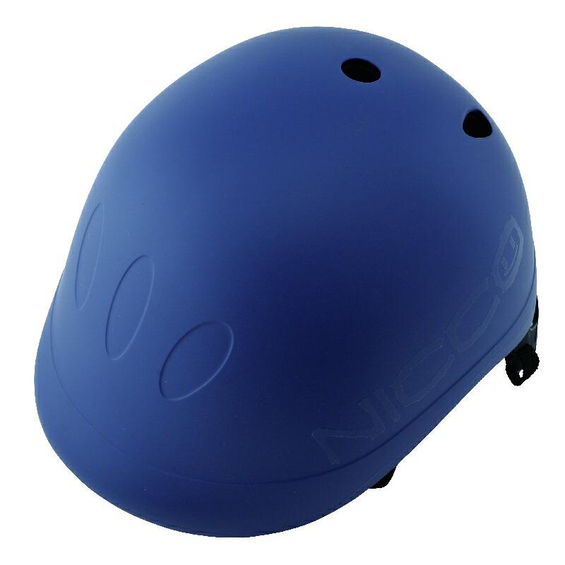 KM001MBL マットブルー 子供用自転車ヘルメット nicco(ニコ)シリーズ クミカ工業 日本製