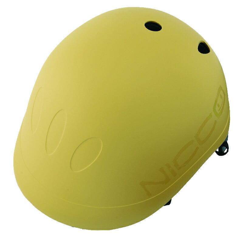 KM001MY マットマスタード 子供用自転車ヘルメット nicco(ニコ)シリーズ クミカ工業 日本製