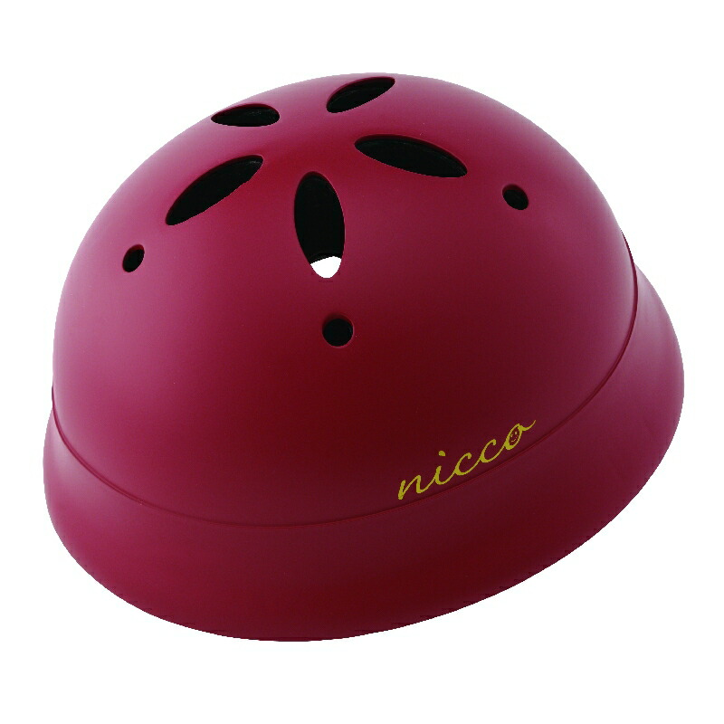 KM002LMRD マットレッド 子供用自転車ヘルメット nicco(ニコ)シリーズ クミカ工業 日本製