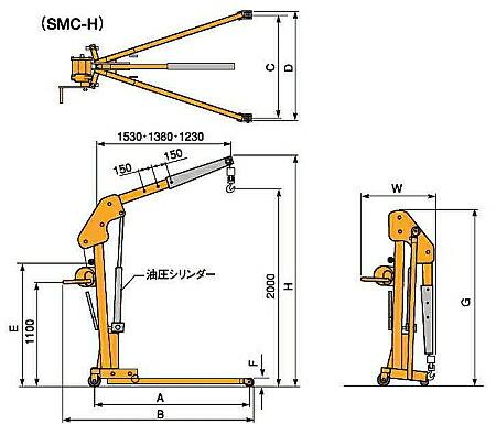 SMC500H・SMC1000H寸法図