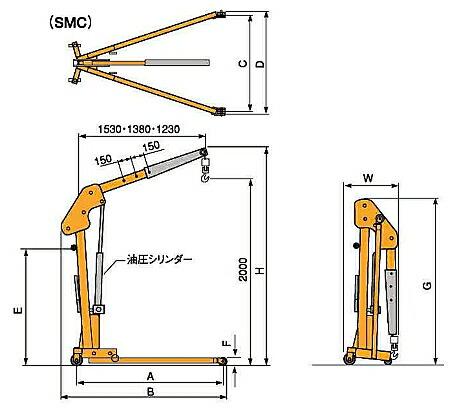 SMC500・SMC1000寸法図