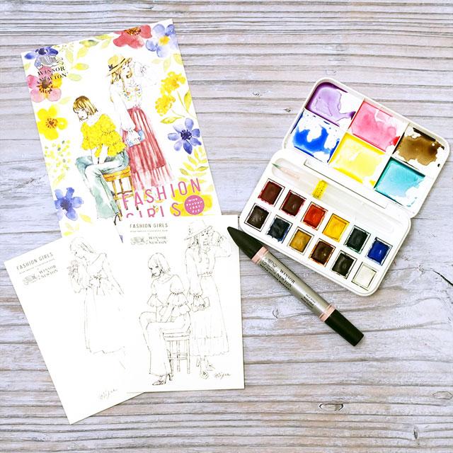 コミック画材 W&N miyaファッションガールズ水彩セット