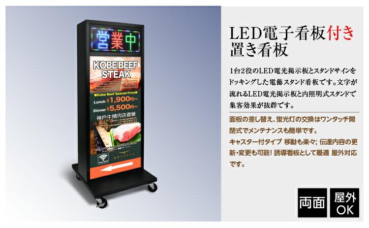 LEDランプ付き看板