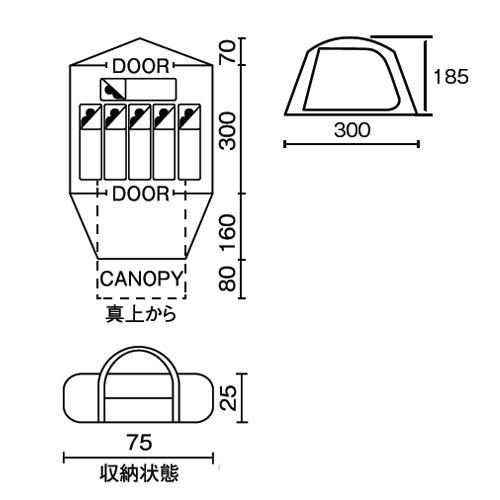 コールマン タフワイドドームIV/300 スタートパッケージ 2000031859