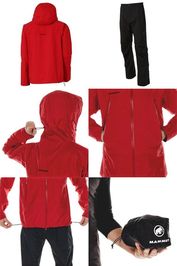マムート レインスーツ Climate Rain-Suit Men マグマ/ブラック 1010-26550-3457