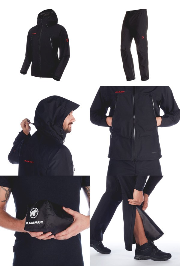 マムート Climate Rain-Suit AF Men ブラック/ブラック 1010-26551-0052