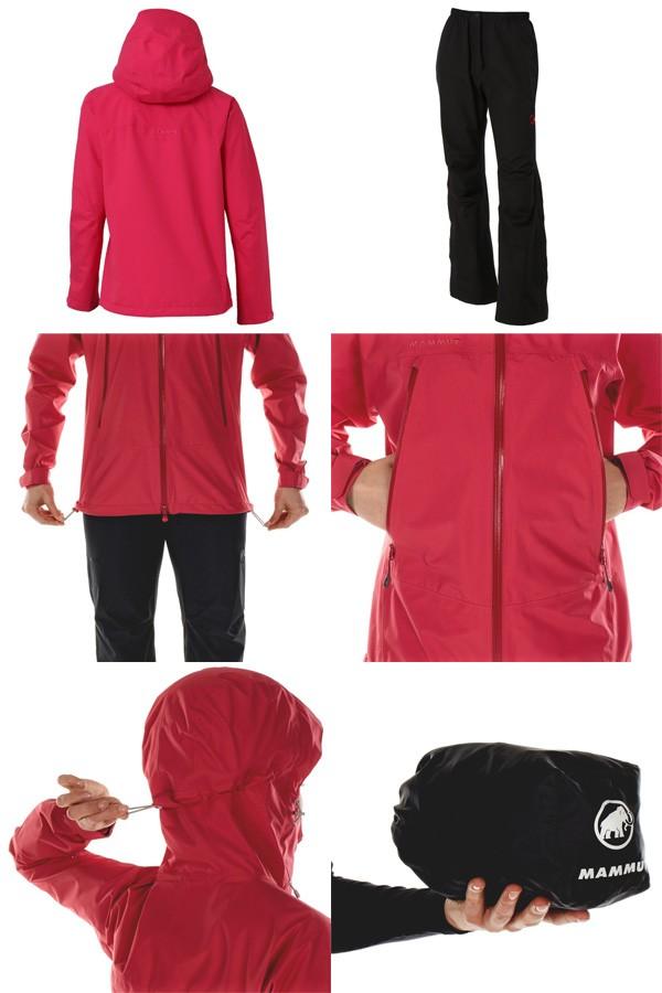 マムート レインスーツ Climate Rain-Suit Women マゼンタ/ブラック 1010-26560-3421