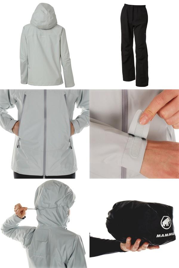 マムート レインスーツ Climate Rain-Suit Women アイスランディック/ブラック 1010-26560-00184