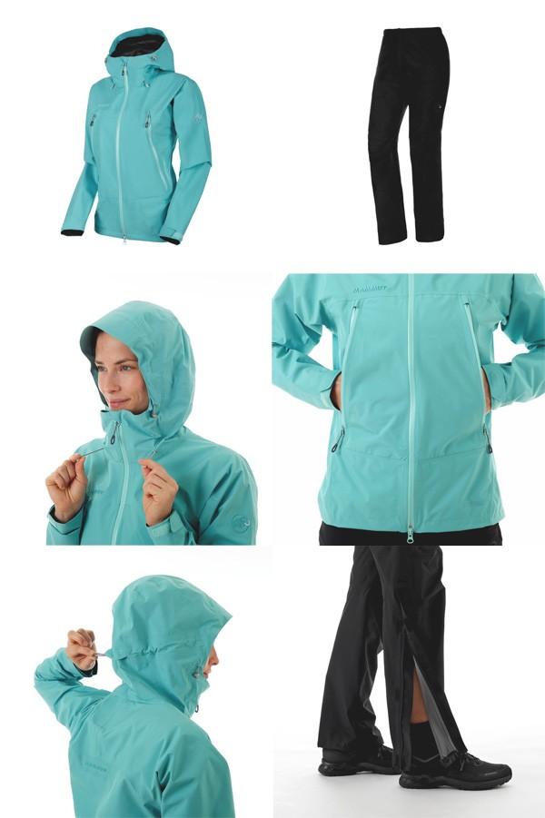 マムート Climate Rain-Suit AF Women ウォーター/ブラック 1010-26561-50218