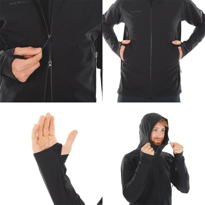 マムート Runbold Trail SO Hooded Jacket AF Men ブラック 1011-23001-0001