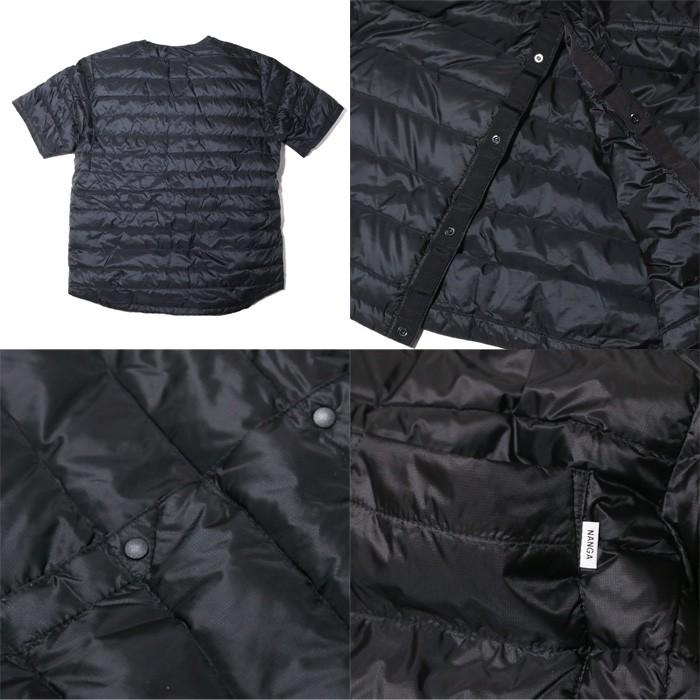 ナンガ NANGA ダウンTシャツ DOWN T-SHIRTS ブラック