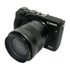 ミラーレスデジタルカメラ キャノン EOS M3 ダブルズームキット レンタル SDカードプレゼント付き