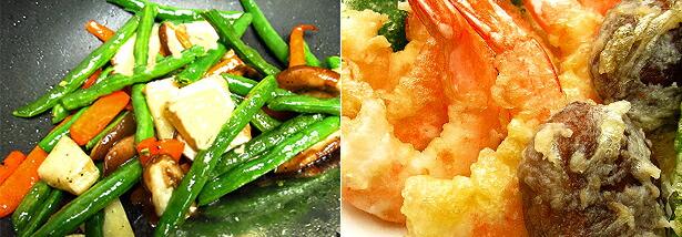 炒め物、天ぷら