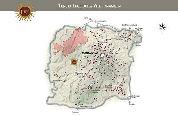 モンタルチーノ地図