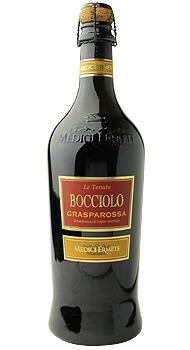 ボッチオーロ ランブルスコ グラスパロッサ ヴィノ フリッツァンテ ドルチェ メディチ エルメーテのボトル全体