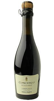 コンチェルト ランブルスコ レッジアーノ セッコ メディチ エルメーテのボトル全体