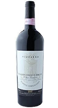 モンテプルチアーノ ダブルッツォ コッリーネ テラマーネ ヴィッザッロ バローネ コルナッキアのボトル全体