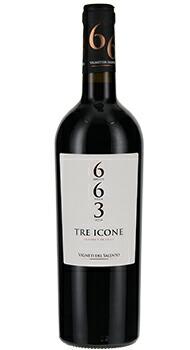 トレ イコーネ 663 ヴィニエティ デル サレントのボトル全体