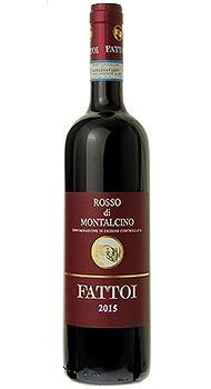 ロッソ ディ モンタルチーノ ファットーイのボトル全体