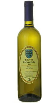 ヴァン ブラン ド ターブル アルシミスト ドメーヌ スクラヴォスのボトル全体
