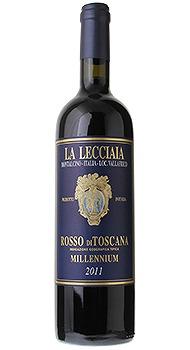 ロッソ ディ トスカーナ ミレニウム ファットリア ラ レッチャイアのボトル全体