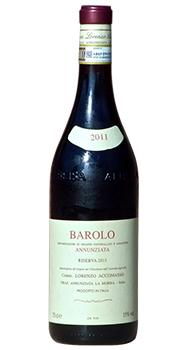 バローロ アヌンツィアータ リゼルヴァ アッコマッソのボトル全体