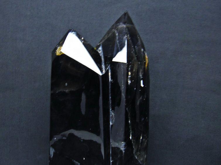 スモーキークォーツ 煙水晶 六角柱 ダブルポイント