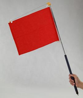 防災用災害時・緊急時の避難誘導手旗