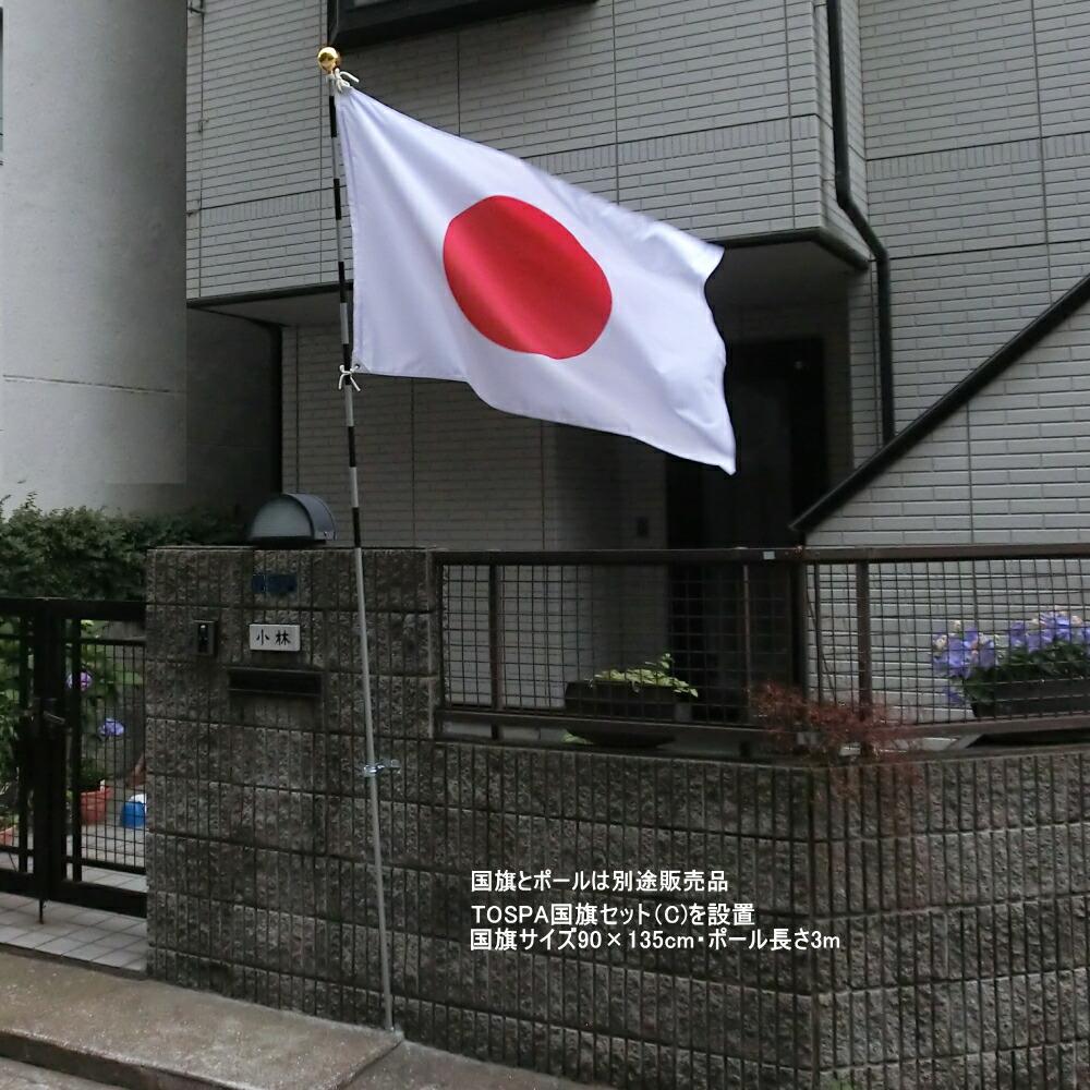 壁面国旗スタンド