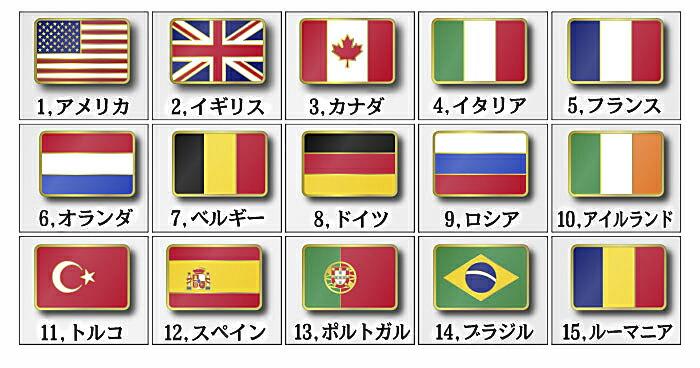 世界の国旗ピンバッチ欧米