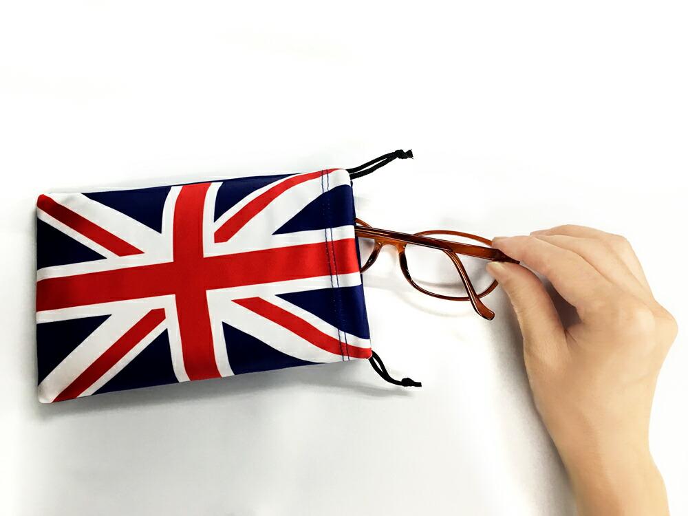 国旗柄巾着ポーチ