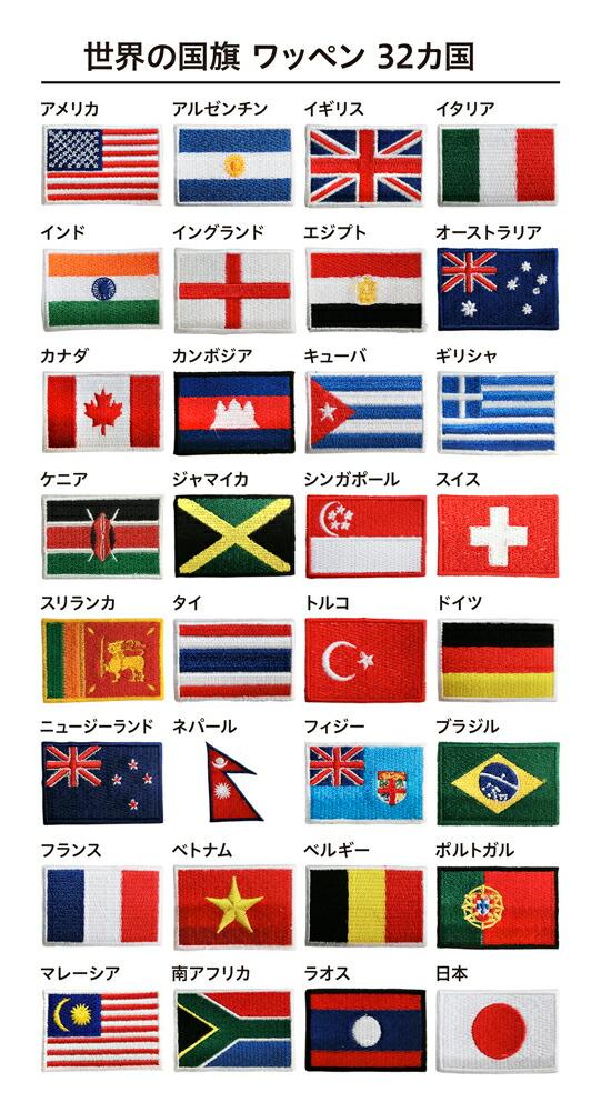 世界の国旗ワッペン