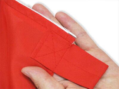 トスパ紅白幕 乳切れは共布の赤色