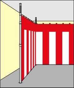紅白幕支柱 取り付けイメージ