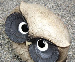 ふくろう置物 陶器フクロウ しがらきやき梟