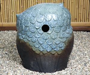 信楽焼フクロウ 陶器ふくろう福多郎 しがらき