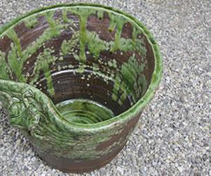 金魚鉢、メダカ鉢 しがらきやき水鉢 陶器すいれん鉢 信楽焼き睡蓮鉢