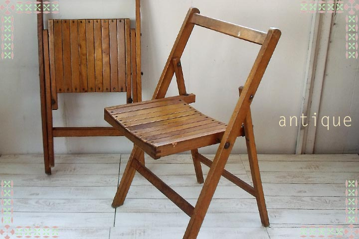 Product Information - Touche Rakuten Global Market: Antique Wooden Folding Chair 4