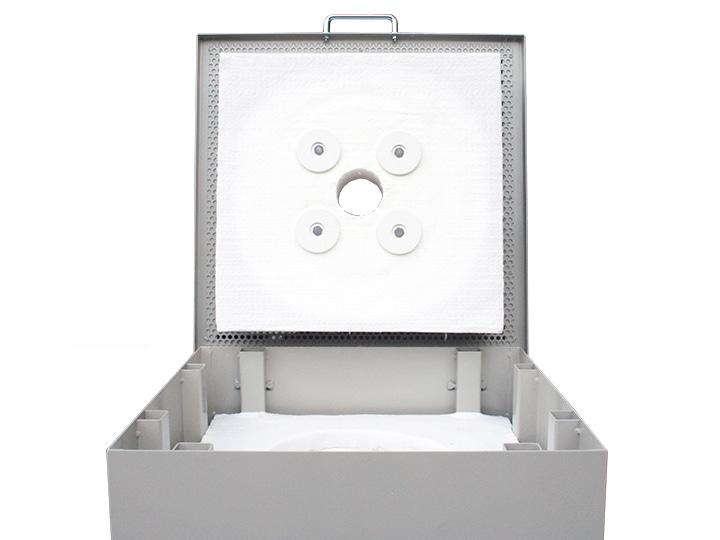 小型電気窯 K-2430C 8ステップマイコン付 上扉を開けて見た画像