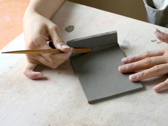 彫塑べらの商品使用イメージです。