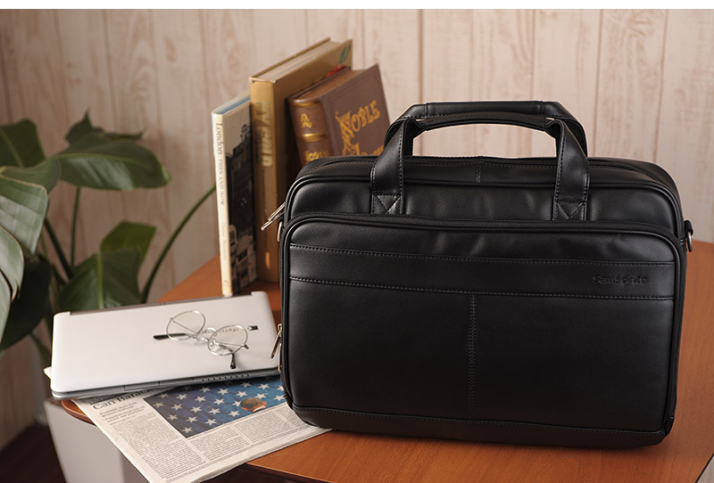 3837655215b8 Samsonite LEATHER BUSINESS CASES Briefcase 48073-1041   men s   business  bags for men mens men s  A4 2 way   leather leather   thin gusset   bag    satchel ...