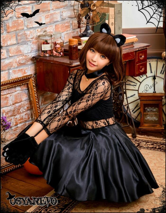 ハロウィン コスプレ 猫 レディース ねこ耳 衣装 仮装