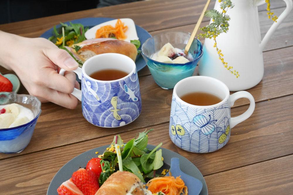 春の食卓に合わせたいハレクタニマグカップ